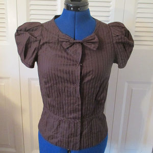 NWT Marc by Marc Jacobs Button up Shirt sz 2 Bow